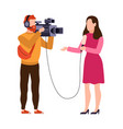 newscaster and journalist profession operator in vector image vector image