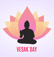 of happy vesak day or buddha purnima vector image