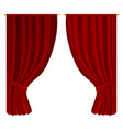 open curtains vector image vector image