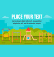 park kid playground concept banner flat style vector image vector image