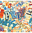 Party tile vector image vector image