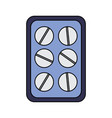 pharmacy medicine pills package health vector image