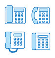 phone flat line icon set vector image vector image
