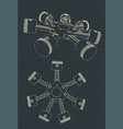 piston block a radial engine vector image vector image