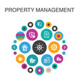 property management infographic circle concept