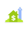 real estate raising profit house with money vector image vector image