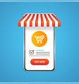 realistic 3d detailed mobile ecommerce concept vector image