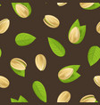 realistic detailed pistachio nuts seamless pattern vector image vector image