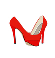 Red Shoes 129 vector image