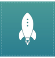 Rocket Icon sign and button vector image