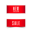 sale and new collection banner ribbon vector image vector image