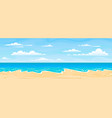 sea beach landscape cartoon summer sunny day vector image vector image
