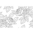 seamless floral pattern with rose peony vector image
