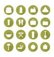 Set of silhouette pictogram camping equipment vector image