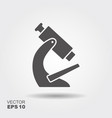 simple flat icon microscope vector image vector image
