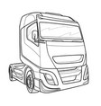sketch a cab a big truck coloring isolated vector image vector image