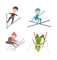Skiing people tricks vector image vector image