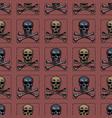skull and cross bones seamless pattern vector image