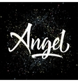 t-shirt printing logo template angel hand drawn vector image vector image
