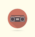 tape recorder flat round icon vector image