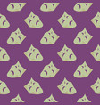 theater masks seamless pattern on a purple vector image vector image