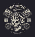 vintage monochrome motorcycle logo concept vector image