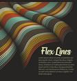 warped lines background flexible vector image