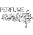 why do people buy perfume text word cloud concept vector image vector image
