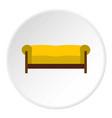 sofa icon circle vector image