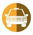taxi cab car public transport yellow circle vector image