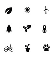 ecology 9 icons set vector image