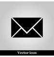 postal envelope sign on grey background vector image