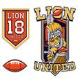 American Football Lion Gladiator Mascot vector image