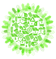 Ecological concept Protection of planet vector image