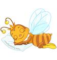 Sleeping bee vector image