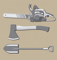 a set of three tools used for wood cutting vector image
