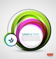 abstract colorful swirl banner vector image vector image