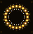 abstract gold round circle vector image