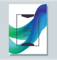 abstract poster with blend vector image vector image