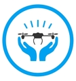 Air Drone Launch Hands Icon vector image vector image
