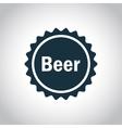 Beer simple black label vector image