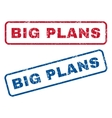 Big Plans Rubber Stamps vector image vector image