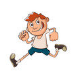 boy run cartoon vector image vector image