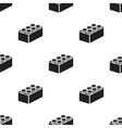 Building block black icon for web vector image