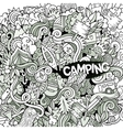 Cartoon hand-drawn doodles camp vector image vector image