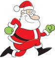 Cartoon Santa Claus Running vector image vector image