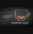 chalk drawn sketch espresso decaf vector image vector image