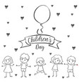 children day with kid design hand draw vector image vector image