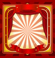 circus frame poster background vector image vector image