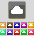 cloud icon sign Set with eleven colored buttons vector image vector image